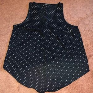 Torrid Polka Dot Sleeveless Blouse size 2